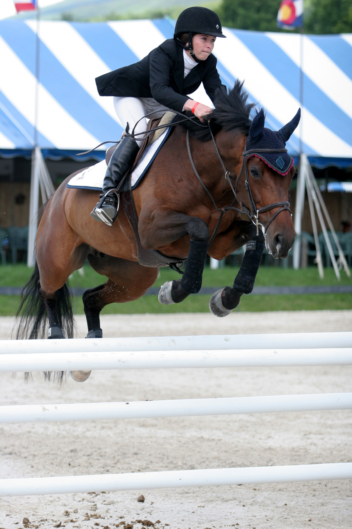 Zazou Hoffman Flies To First In 1 500 Nal Wihs Children S Jumper